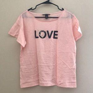 NWOT VS LOVE Sequined T-shirt